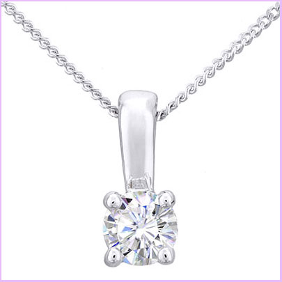 Buy her this diamond pendant in white gold for the 60th anniversary gift