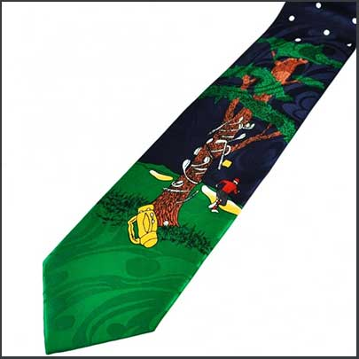 Buy him this novelty frustrated golfers tie for this anniversary gift