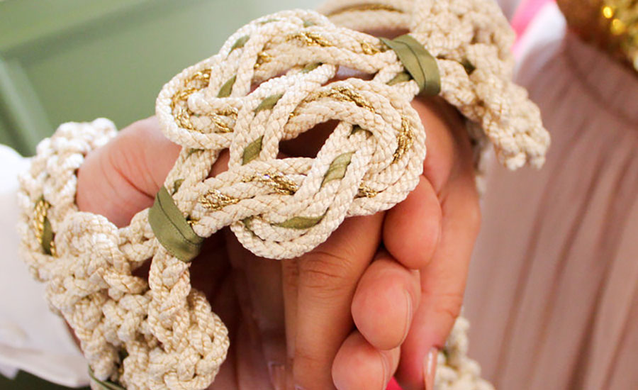 Handfasting cords and knots