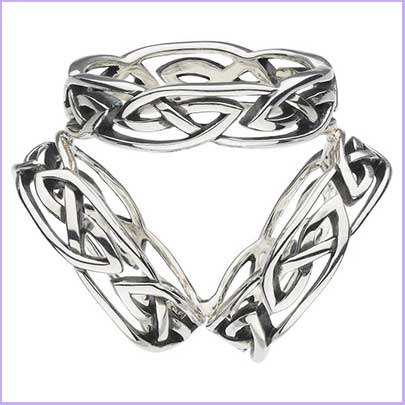 Buy her this celtic scarf ring for an anniversary gift made from silver