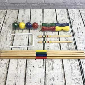 Buy them the Lawn Croquet set for this anniversary gift, outdoor fun for all the family