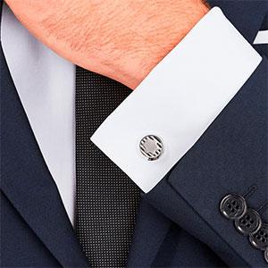 Buy him these stylish Montblanc Urban Spirit cufflinks for this anniversary gift