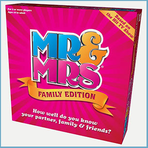 Buy them the Mr & Mrs family edition game for this anniversary gift