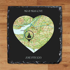 Buy him. her the Special Place heart keepsake slate for this anniversary gift