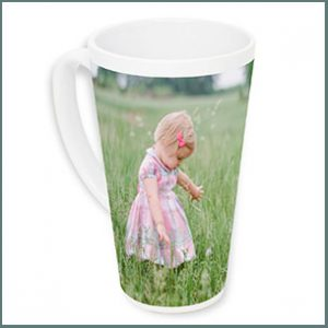 Buy him or her this personalised latte Mug, Show off your creative side by using one of our designer layouts, adding a clever sentiment for this anniversary gift