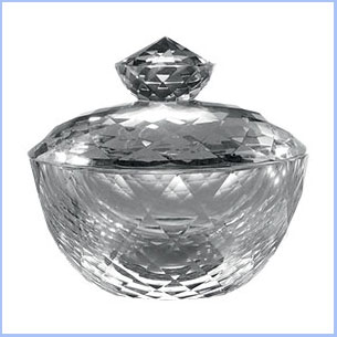 Buy her or the couple this crystal radiance bowl to keep trinkets or sweets in for this anniversary gift