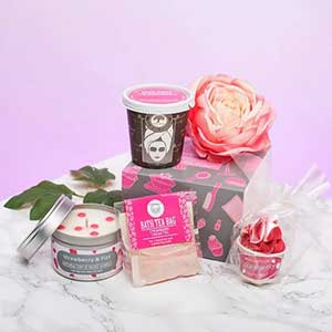 Buy her the strawberry and cream pamper pack for this anniversary gift