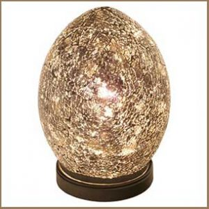 Buy them this mosaic amber egg lamp for this anniversary gift