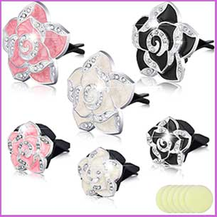 Buy her these car bling car air vent accessories with aromatherapy pads for this anniversary gift