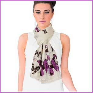 Buy her this Dahlia Women's 100% wool Scarf, very stylish and a great anniversary gift