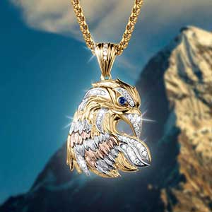 Buy him this Great Eagle Pendant,The Great Seal of the United States for this anniversary gift