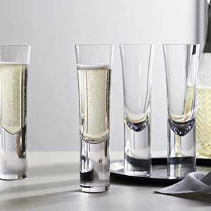 Buy them these Halden Champagne Flutes (set of 4) for this anniversary gift