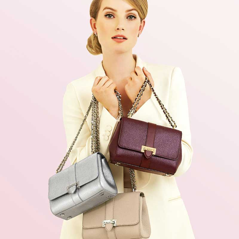 Buy her a Quality Hand Bag from Aspinal of London for this anniversary gift