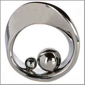 Buy this Mello Abstract Ring Silver Ceramic Sculpture for this anniversary gift