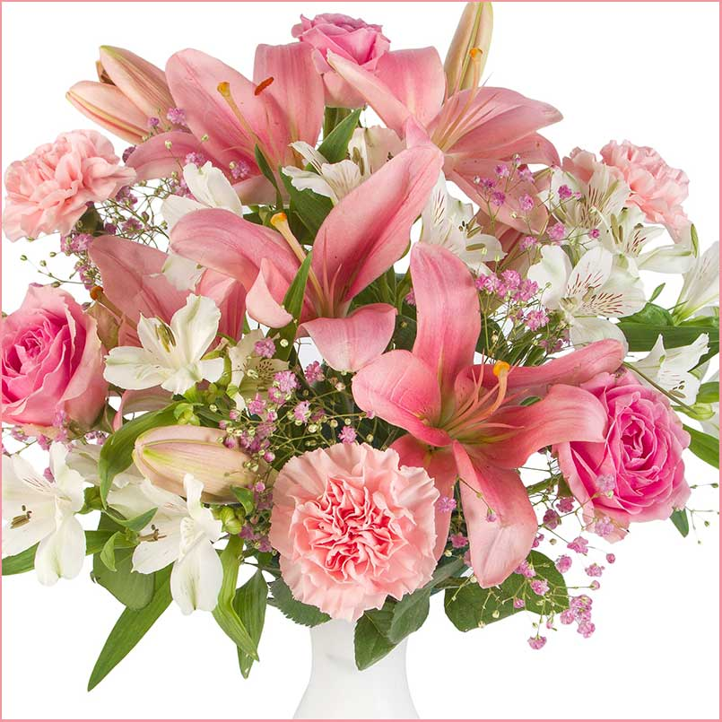 Buy her or them the Perfect Pinks Bouquet for this anniversary gift