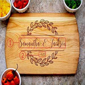 Buy them this personalized cutting board for their anniversary gift