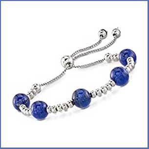 Buy her the Ross Simons Lapis Lazuli & Silver bracelet for this anniversary gift