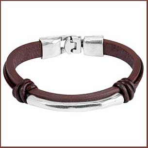 Buy him this That´s It men´s leather bracelet for this anniversary gift