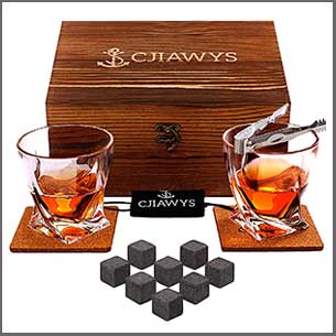 Buy him the Whisky Stones Gift Set for this anniversary gift