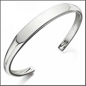 Buy him the FRED BENNETT Flat Top Shaped Bangle that can be engraved for this anniversary gift