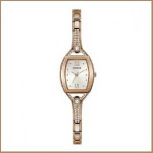 Buy her this Guess ladies rose gold and bronze watch for this anniversary gift