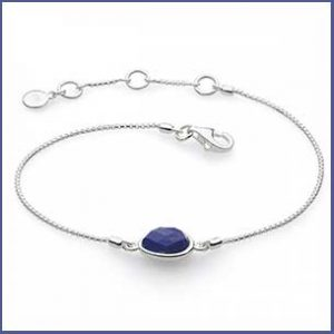 Buy her Kit Heath Coast Pebble Lapis Lazuli Mini 7.5 Bracelet for this anniversary gift