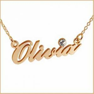 Buy her a personalised name necklace for this anniversary gift