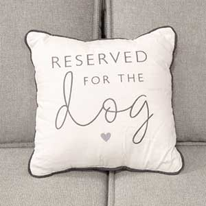 Buy them this fun and quirky reserved for the dog cushion for an anniversary gift
