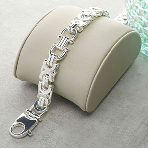 Buy him the Silver Byzantine Bracelet for this anniversary gift