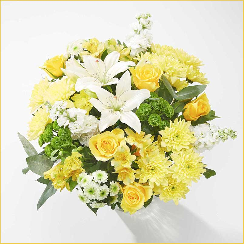 Buy her or the celebrating couple this Sunny Daze bouquet for their anniversary gift