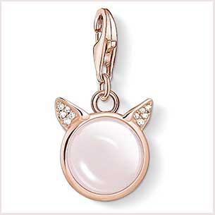 Buy her Thomas Sabo Sterling Silver Cats Ears Rose Gold Charm Pendant for this anniversary gift