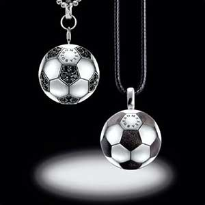 Buy him the Thomas Sabo silver football pendant for this anniversary gift