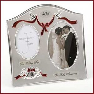 Buy them this 40th Ruby anniversary frame for this anniversary gift