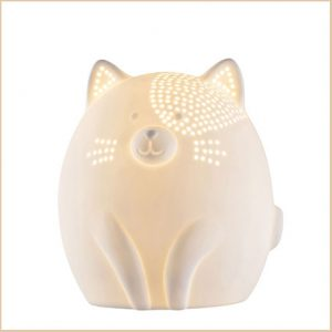 Buy them a cat iluminaire for their wedding anniversary gift.