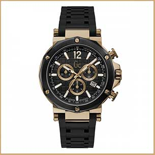Buy him the Gc Spirit Gents Silicone Black Watch with bronze effect body for this anniversary gift