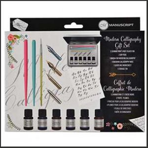 Buy him or her the modern calligraphy gift set for this anniversary gift