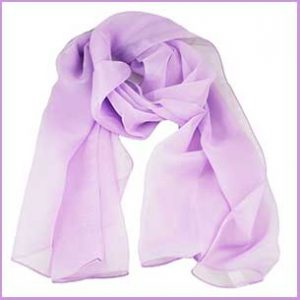 Buy her this Plain Lilac Chiffon Scarf for an anniversary gift