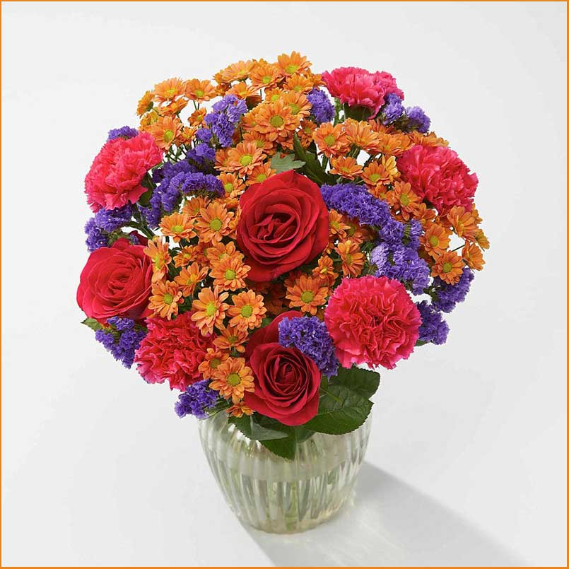 Buy her or them the sunset glow bouquet for this anniversary gift