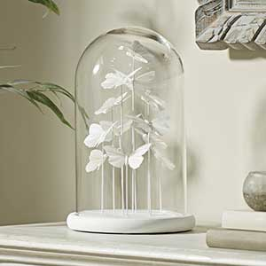 Buy her or them the White Butterfly Bell Jar for this anniversary gift