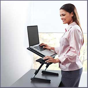 Buy the AirSpace Adjustable Laptop Desk for him or her for this anniversary gift