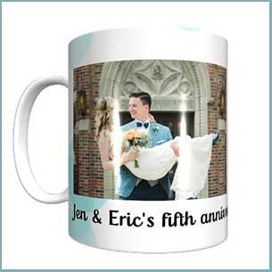 Buy this personalized anniversary photo mug gift