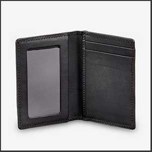 Buy him the Black leather card holder for this anniversary gift