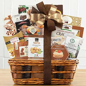 Buy them The Bon Appetit Gourmet Food Gift Basket for this anniversary gift, who knows you might get to share!
