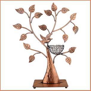 Buy her this jewelry Tree of Life Bronze Bird Nest holder for this anniversary gift