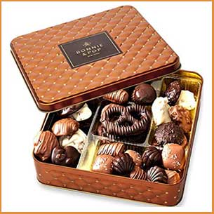 Buy them the Gourmet Snack Food Box in Keepsake Tin for this anniversary gift