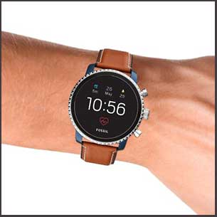 Buy him the Fossil Smartwatches Gen 4 Men's Explorist Blue Ip Watch for this anniversary gift