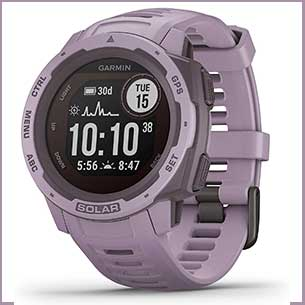 Buy her the Garmin Solar sports watch for this anniversary gift