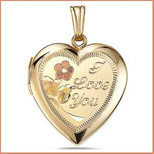 Buy her the I Love You gold locket for this anniversary gift