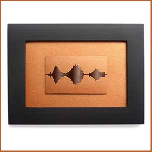 Buy her the I Love You Soundwave Art pictire and frame for this anniversary gift