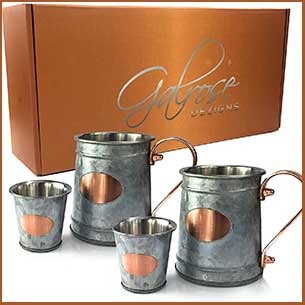 Buy him the Galrose Galvanized Iron Beer Stein set for this anniversary gift